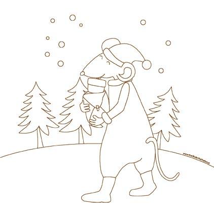 Mot cl coloriage la petite souris franbulle jardin et - Coloriage petite souris ...